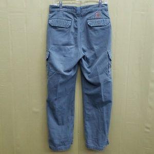 Mens Carhartt Dungaree Fit 30x30 Green Cargo Pants